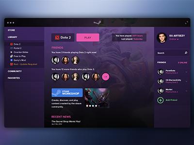 Steam UI user interface ui steam