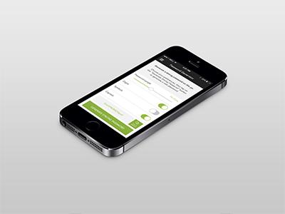 PasswordBox Generation Page Rebound ios7 mobile ui ux user interface experience
