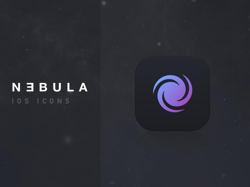 Nebula iOS icon ndc2014 app icon user interface experience ios dark ui ux