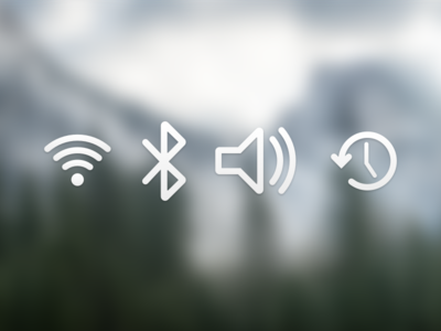 Yosemite toolbar icons
