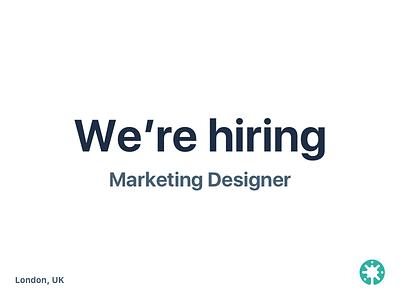 Beamery is hiring! opportuinty job designer design graphic marketing uk london beamery hiring