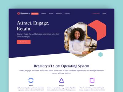 Beamery website refresh
