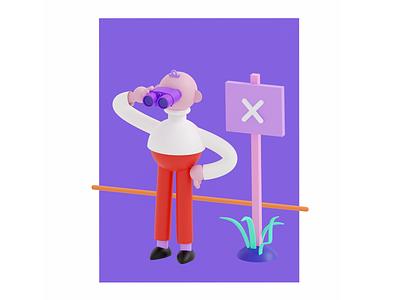 brainybox commercial art character illustration design branding blender 3d illustration