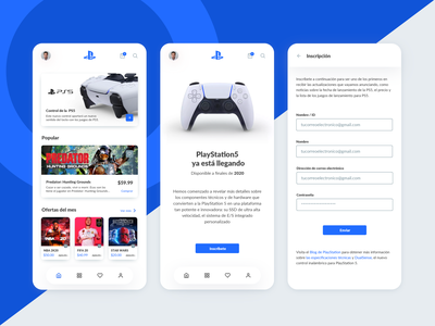 Playstation 5 User App design new buy interface mobile shooter play gaming store shop starwars fifa nba ps4 ps5 concept app game playstation5 playstation