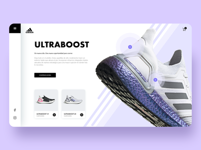 Adidas Ultraboost 20 ui ux website sport shoes nike interaction design ecomerce store adidas originals shop product one page landing dashboad checkout card add adidas