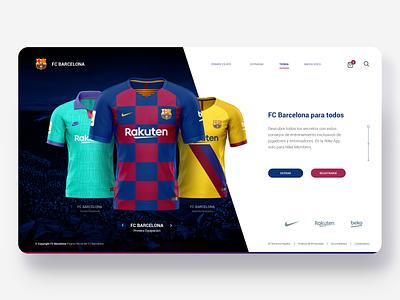 Kit of FC Barcelona Jersey design ui world cup fcb nike messi sports design footballkit grid football sport shop minimal jersey soccer fifa concept clothes barcelona