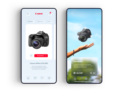Canon e-commerce Neomorfismo iphone camera app nikon shop reflex ar ux ecommerce app virtual reality ui card flat grid photograhy ecommerce design digital camera canon app ecommerce