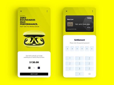 Skullcandy Zero Boundaries visa performance sport money finance mobile dashboard credit card colour push wireless concept audio app settlement card ui ux beat skullcandy