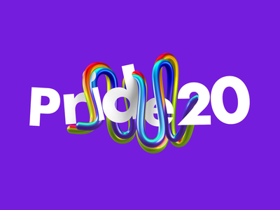 Happy Pride 20! unicorn letters animation brighton illustration color after effects gay character animation lettering 3d graphic gaypride rainbow heart colors motion lgtb pride