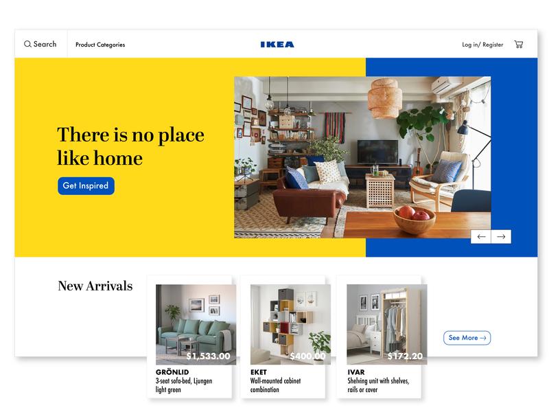 Daily UI 003 - Landing Page ikea website web typography branding design ui ux simple dailyui