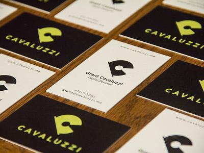 New business cards digital designer brand logo green print business card c