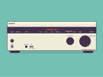 Sony Receiver illustration vector dial audio receiver sony music