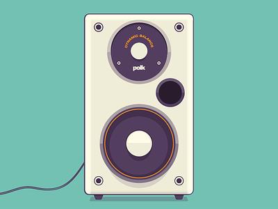 Polk Speaker vector sub sound speaker music audio illustration