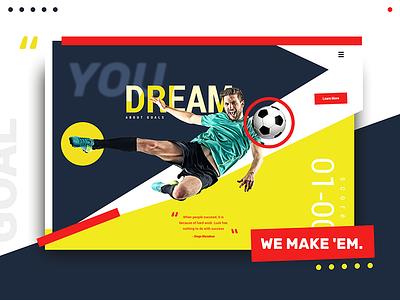 Goals ⚽️ web design goal action ui grid soccer sports