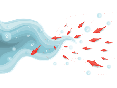 The Salmon Coin design illustration vector web