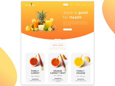 My Juice Web UI Concept