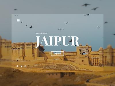 Jaipur - Landing Page Concept dribbbleweeklywarmup weeklywarmup landing page landing website web jaipur rebound minimal ux design ui