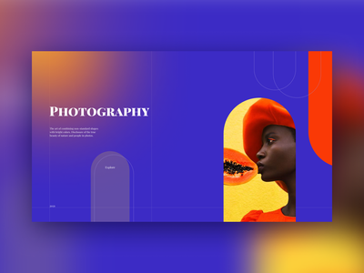 Website for the work of photographers site website webdesign photos colorfull new design illustration bright colors ux branding ui