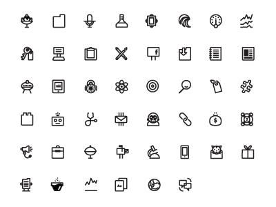 MailChimp icon set icon illustration