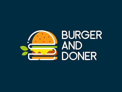 Logo for Fast Food doner fast food fastfood burger type logotype vector concept branding design illustration illustrator graphic design logo design branding