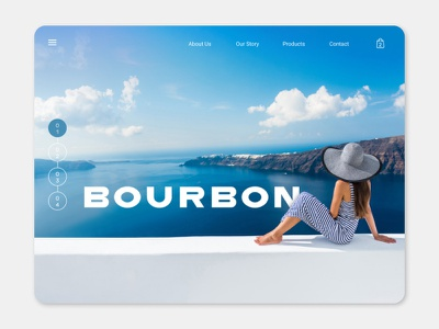 Bourbon 2 web design website concept website webdesign ui design online shop web ui graphic design figma ecommerce design design