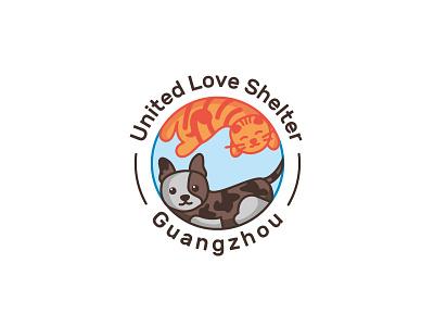 United Love Shelter concept brand design design branding design illustrator shelter dog cat vector graphic design logo logos branding
