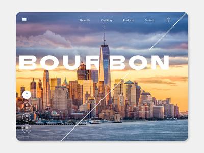Bourbon 4 websites webshop web design webdesign uiux ui designer ui design ui  ux uidesign ui website concept website design website web ecommerce design concept