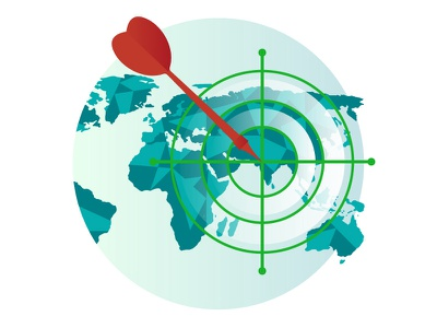 Icon for consulting website darts target icon target illustration design vector concept graphic design earth map consulting icon illustrator illustraion