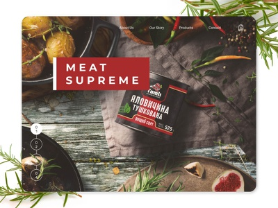 Meat Suprime figma graphic design meat site uiux ui  ux uidesign ui design website design website web design webdesign web ui
