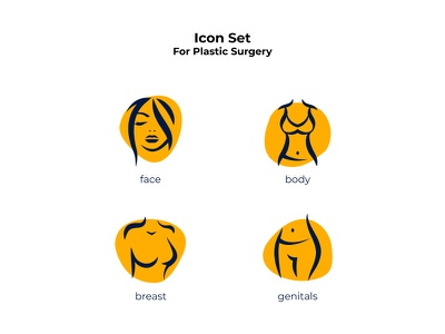 icon set for plastic surgery website icons graphic design orange vector ui design uidesign uiux ui plastic surgery icons design icons pack icons set iconset icons icon