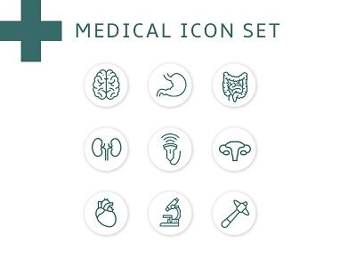 Medical Icon Set branding agency iconography icons pack icons ui design ui  ux uiux uidesign ui ux ui medical icon medical icons medical icon set icons set icon