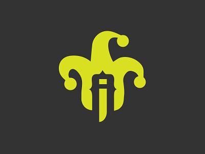 A + I Joker logo vector illustration branding logo design
