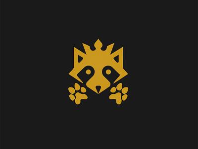 Racoon minimal vector illustration branding logo design