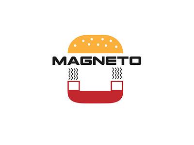 """Magneto"" Burger logotype logoart adobe designs illustrator flat illustration vector branding logo design"