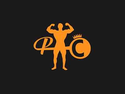 PC Bodybuilding logo illustrator flat adobe designs minimal illustration vector branding logo design