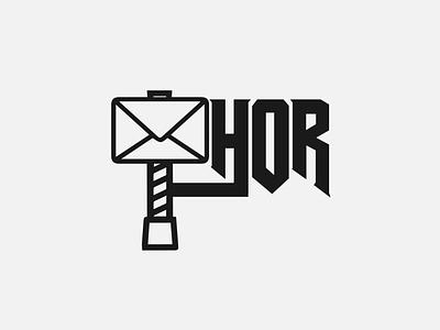 Thor message logo oslo norway scandinavia thor typography flat designs illustrator minimal illustration vector branding logo design