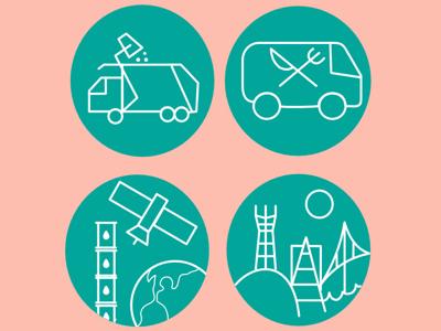 Slide-Con (Icons I made for some slide infographics)