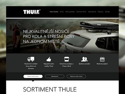 Thule Sweden Homepage web design ux color black white site clean