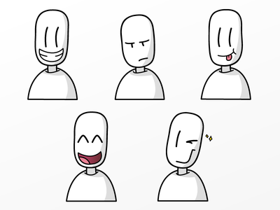 whitefaces stickers 1/4 flat faces face white whitefaces emojis imessage stickerpack stickers ios