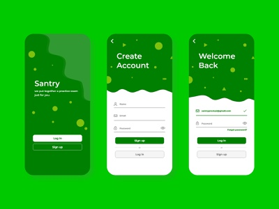 Santry Mobile Apps Design follow firstshot dribbble invite art vector flat ui newbie minimal logo likes design branding