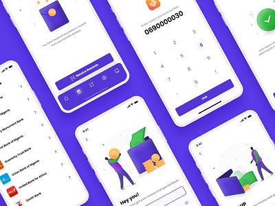 Banking app ios uiux app trand simple clean design minimal vector typography bank app bank banking mobile app mobile ui ux ui hello dribbble hello illustration