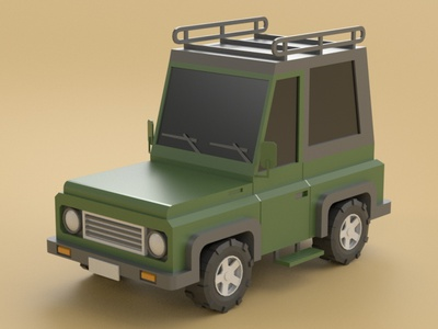 Jeep safari off road jeep 3d model vehicle car illustration cartoon design isometric lowpoly 3d art 3d maya 3dmodel