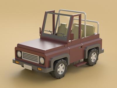 Jeep off road offroad suv jeep vehicle car 3d model illustration cartoon design isometric lowpoly maya 3d art 3d 3dmodel