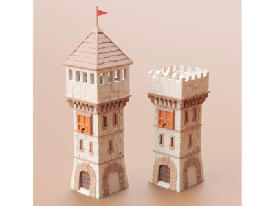 Guard Tower tower guard illustration