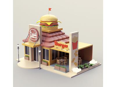 Burger Shop restaurant burger shop burger illustration