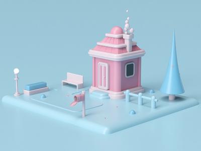 House minimal illustration