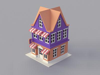 Cartoon Dutch Building 01 amsterdam dutch illustration