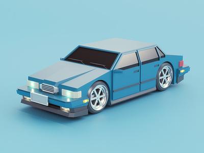Custom Car low poly street vehicle automobile car illustration