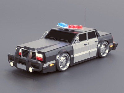Police Car station police car police automobile