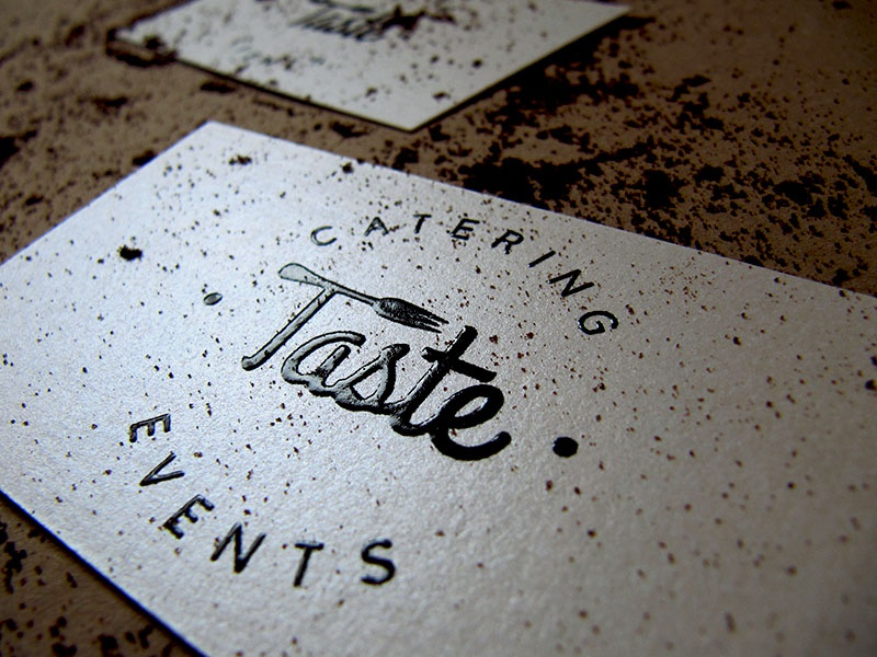 Taste catering logo business cards by jovana andjelkovic dribbble dribbble reheart